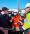 格鲁吉亚公路局副主席列万到中铁二十三局南北公路项目检查指导工作