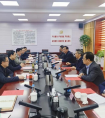 朱赤拜会中国铁路兰州局集团主要领导